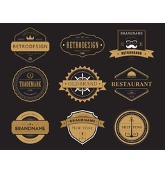 set classic company retro badges or banners vector image