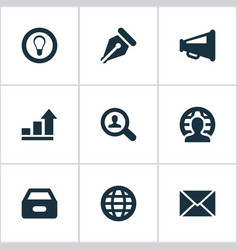 Set simple job icons vector
