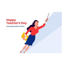 Super teacher flying for happy teachers day vector