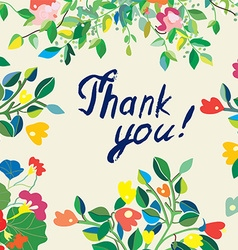 Thank you floral nice card vector