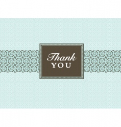 thank you frame vector image