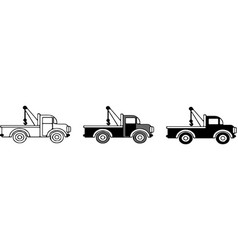 Tow car icon isolated on white background vector