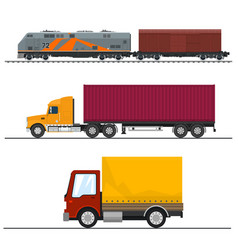 transportation and cargo services vector image
