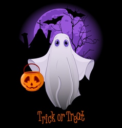Trick or Treating Ghost vector