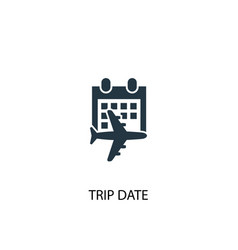 trip date icon simple element vector image