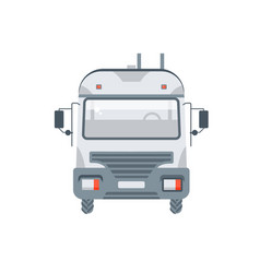 truck transportation sand cement mixes front view vector image