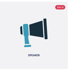 Two color speaker icon from strategy concept vector