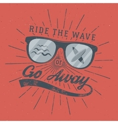 Vintage Surfing Poster for web design or print vector