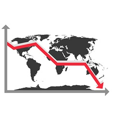world map chart vector image