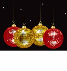 Christmas mirror bauble background vector image vector image