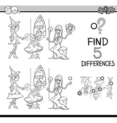 differences test coloring book vector image vector image