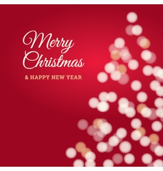 merry christmas tree card red vector image vector image