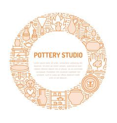 pottery workshop ceramics classes banner vector image vector image