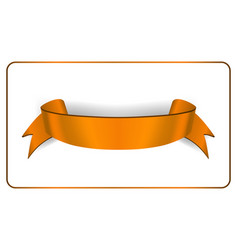 ribbon banner satin blank vector image