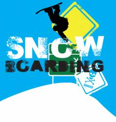 snowboarder signs vector image
