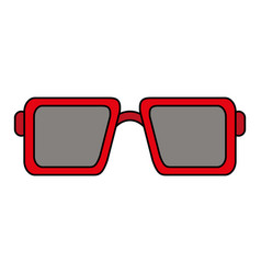 sunglasses square frame icon image vector image vector image