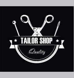 tailor shop of high quality promotional black and vector image vector image