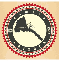 Vintage label-sticker cards of Eritrea vector image vector image