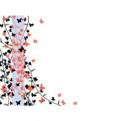 butterfly edge vector image vector image