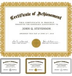 Guilloche certificate set vector