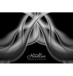 Abstract grey smooth smoke wavy pattern vector image