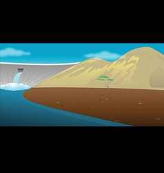 dam reservoir vector image