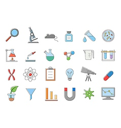 Laboratory icons set vector image