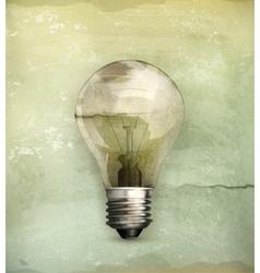 Lightbulb old-style vector image