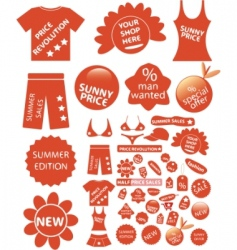 shop stickers vector image vector image