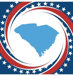 Vintage label South Carolina vector image vector image