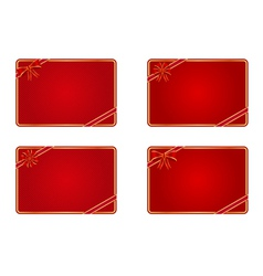 blank gift cards vector image