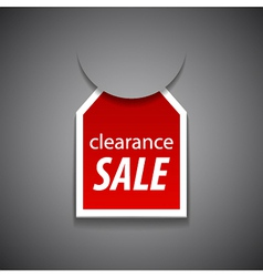Clearance sale tag vector image vector image