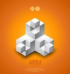 Cubes logo vector image vector image