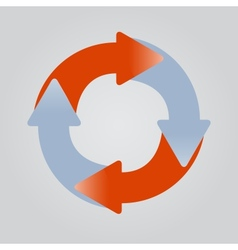 Four sticky arrows in circle vector image vector image