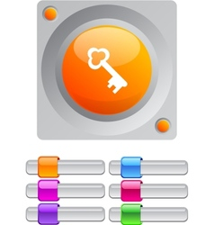 Key color round button vector image