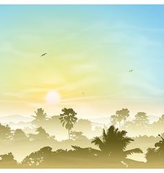 Misty Landscape vector image vector image