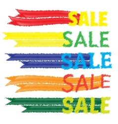 Sale tags Banners set Shopping vector image vector image