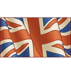 Vintage British flag background vector image
