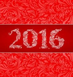2016 banner vector image