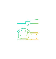 3d printed furniture design gradient linear icon vector