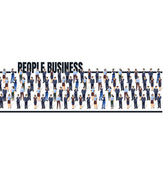 a group people are getting to business concept vector image