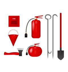 a set of fire tools vector image