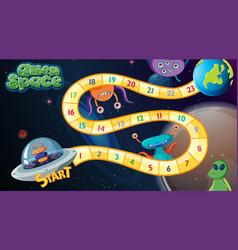 Alien space board game vector