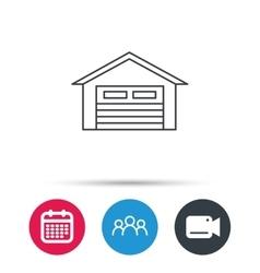 Auto garage icon Transport parking sign vector