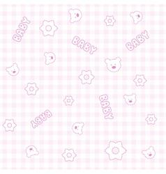 Baby Girl Teddy Pattern vector image