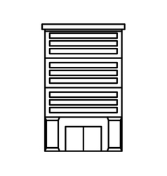Bank building isolated icon vector