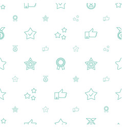 best icons pattern seamless white background vector image