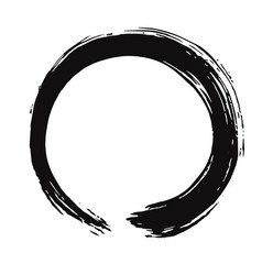 Black enso zen brush vector