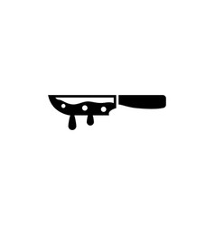 Bloody knife flat icon vector