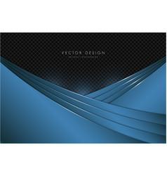 Blue metal background vector